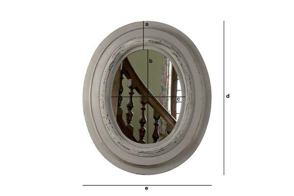 Dimensions du produit Miroir en bois Napoléon