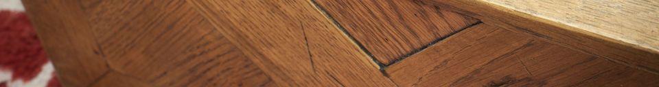 Mise en avant matière Miroir en bois Queens
