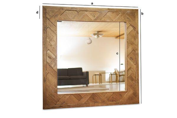Dimensions du produit Miroir en bois Queens