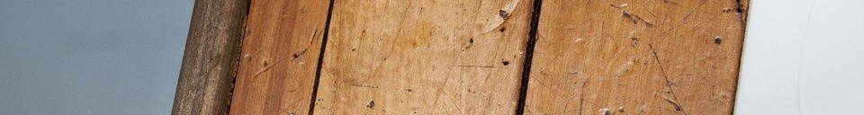Mise en avant matière Miroir en bois Sheffield