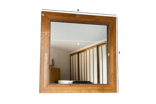 Dimensions du produit Miroir en bois Sheffield