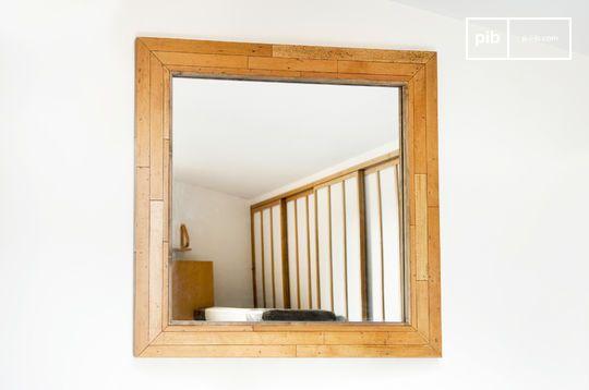 Miroir vintage en bois sheffield