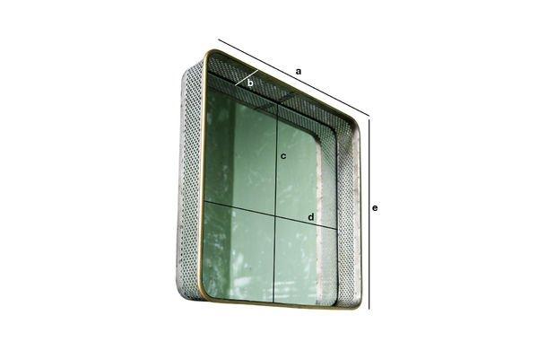 Dimensions du produit Miroir en métal Olonne