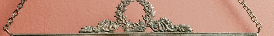 Mise en avant matière Miroir Flèche de bronze
