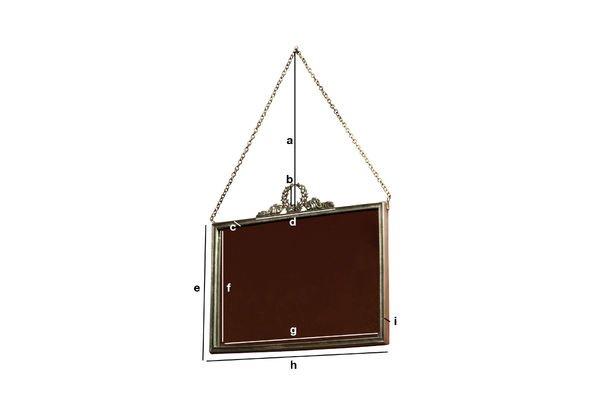 Dimensions du produit Miroir Flèche de bronze