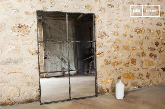 Miroir de style vintage industriel 6 sections