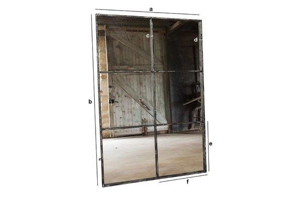 Dimensions du produit Miroir industriel 6 sections