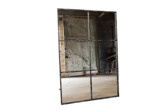 miroir industriel 6 sections du vintage au mur pib. Black Bedroom Furniture Sets. Home Design Ideas