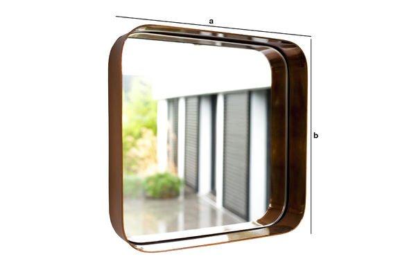 Dimensions du produit Miroir Lena carré