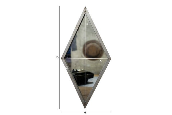 Dimensions du produit Miroir mural Diagone