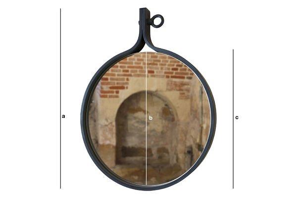 Dimensions du produit Miroir mural Matka