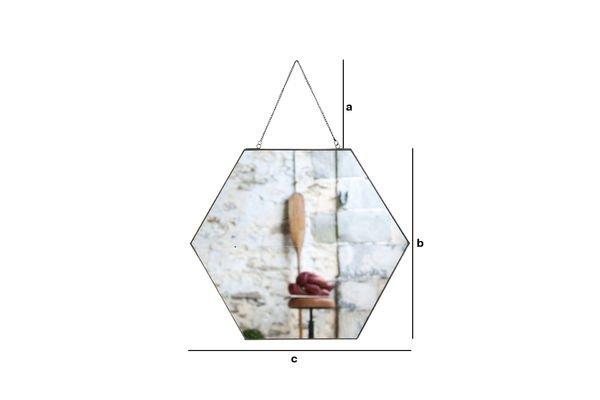 Dimensions du produit Miroir Solliès-Pont Hexa