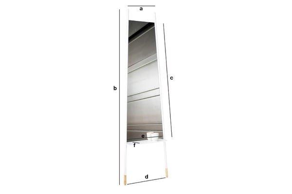 Dimensions du produit Miroir Trapisa