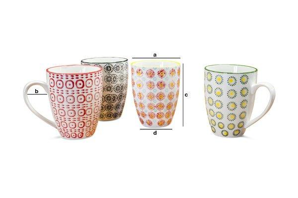 Dimensions du produit Mugs à motifs Julia