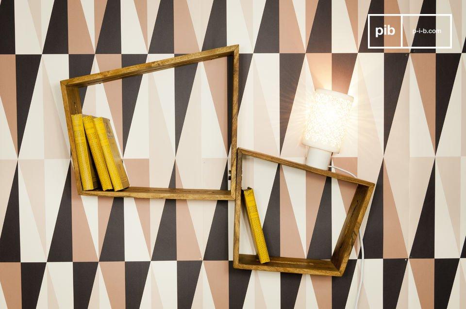 Des casiers muraux à fonction d\'etagere en bois qui vous permettront de constituer une grande