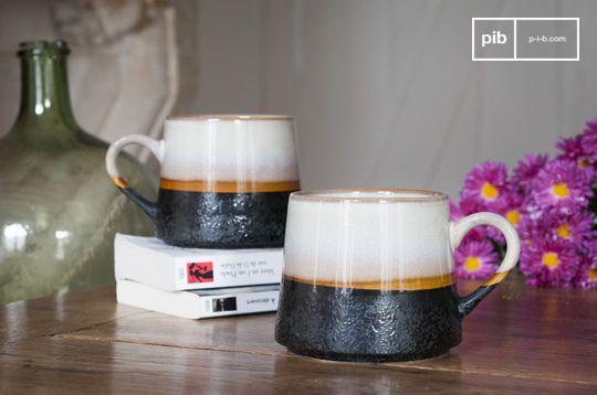 Paire de grandes tasses Ceramix