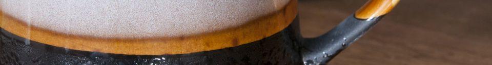 Mise en avant matière Paire de grandes tasses Ceramix