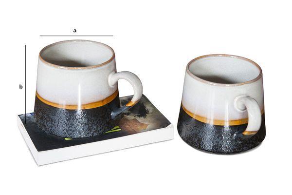 Dimensions du produit Paire de grandes tasses Ceramix