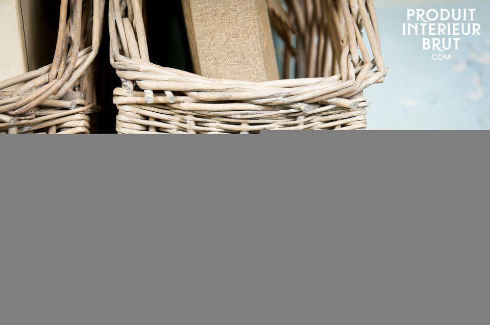 Le charme de l'osier blanchi façon rétro