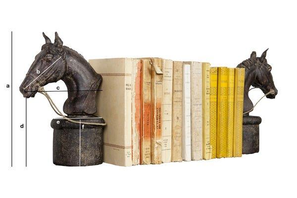 Dimensions du produit Paire de serre-livres Hippiques