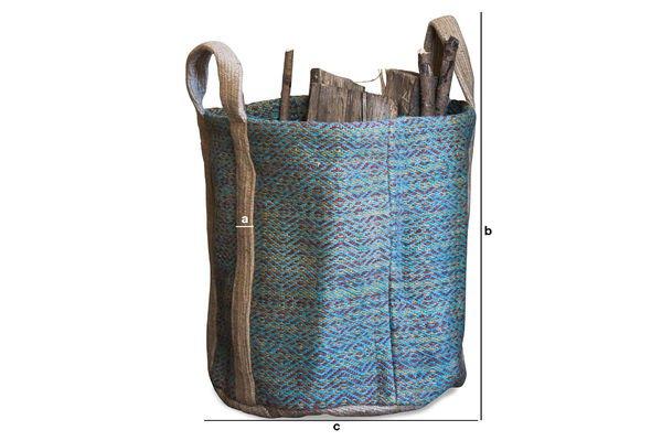 Dimensions du produit Panier à bois Raviya