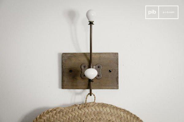 >Patère céramique double crochet