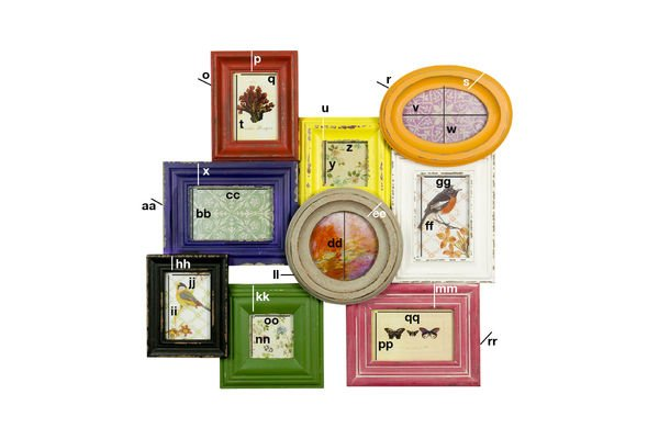 Dimensions du produit Pêle-mêle multicolore 9 cadres