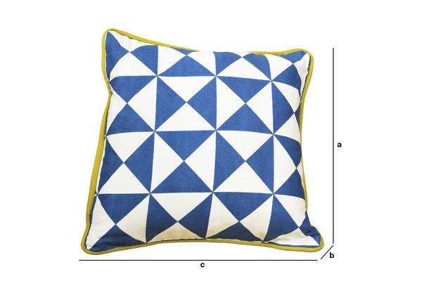 Dimensions du produit Petit coussin Norway bleu