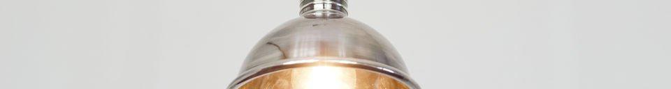 Mise en avant matière Petite lampe suspendue argentée