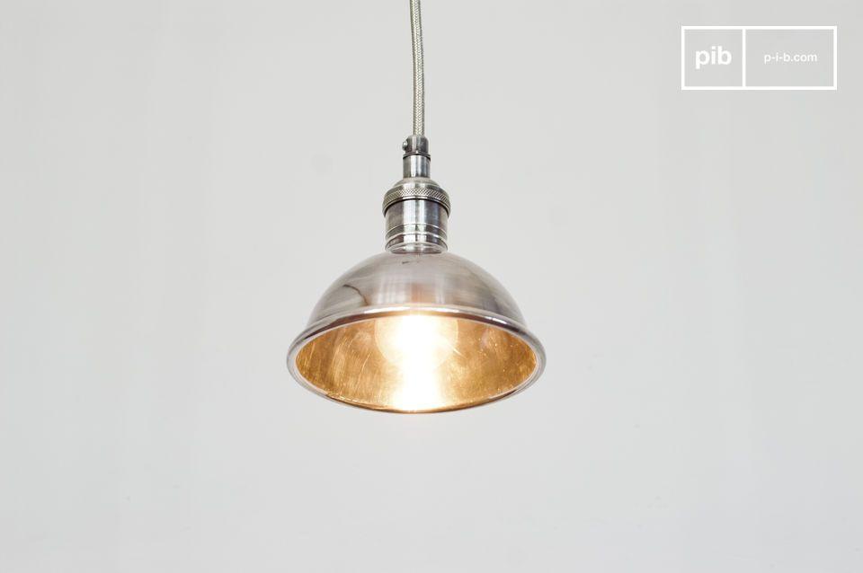 Petite lampe suspendue argentée