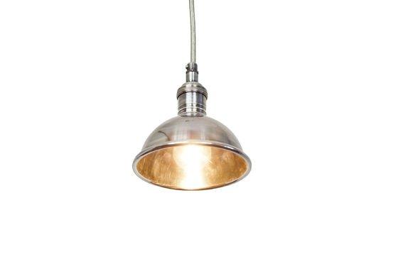 Petite lampe suspendue argentée Détouré
