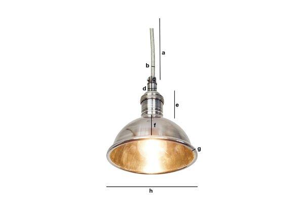 Dimensions du produit Petite lampe suspendue argentée