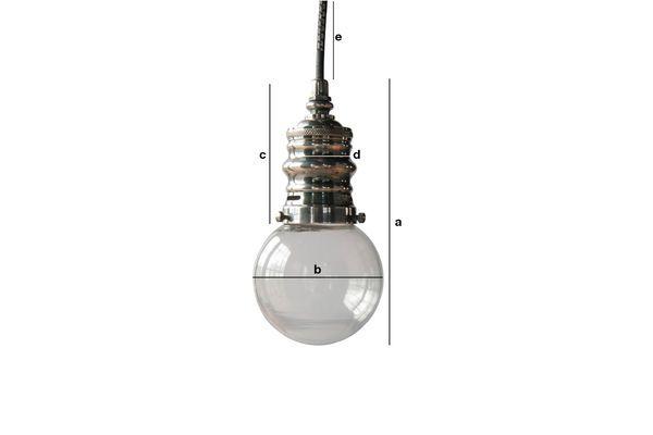 Dimensions du produit Petite suspension argentée Darwin