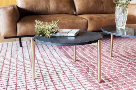 Petite table basse ronde en marbre anneli