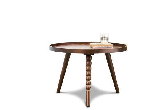 petite table basse katalina bois sombre et rondeurs pib. Black Bedroom Furniture Sets. Home Design Ideas