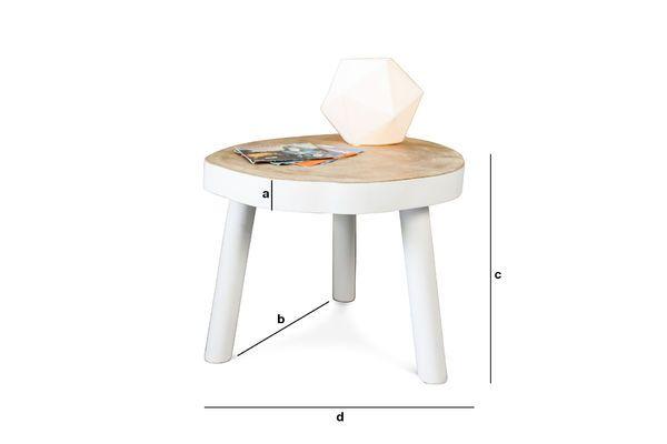 Dimensions du produit Petite table basse Nederland