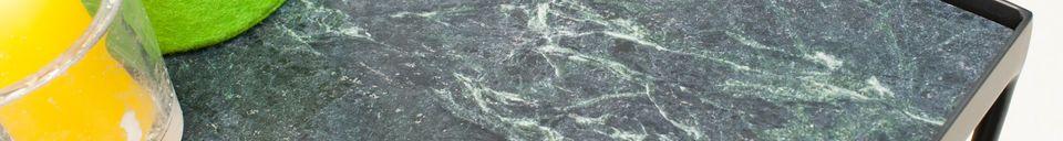 Mise en avant matière Petite table Bumcello en marbre vert