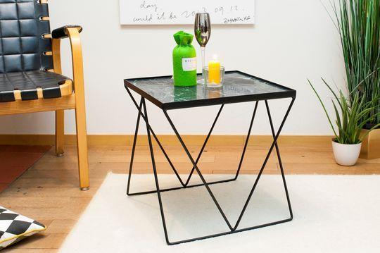 Petite table Bumcello en marbre vert