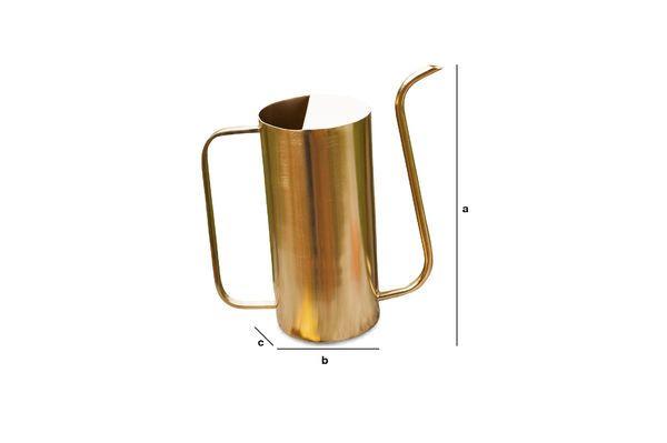 Dimensions du produit Pichet en laiton Sterling