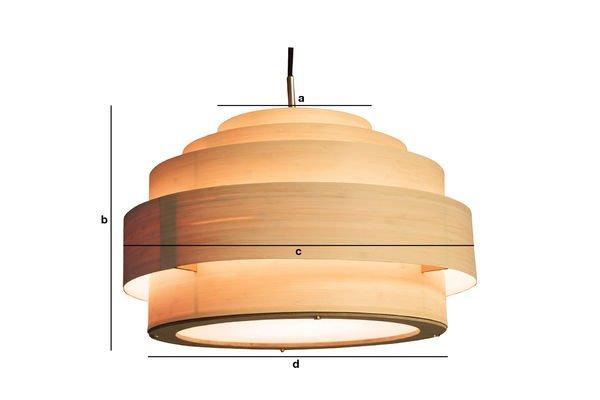 Dimensions du produit Plafonnier Bamboo 40cm