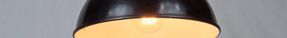 Mise en avant matière Plafonnier d'atelier 24cm noir