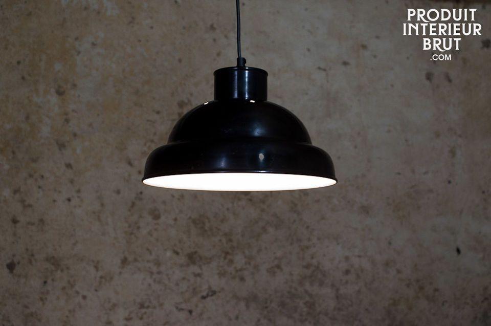 Plafonnier d'atelier noir 31cm