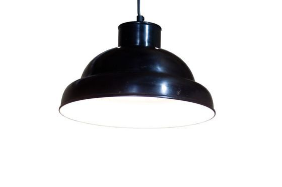 Plafonnier d'atelier noir 31cm Détouré