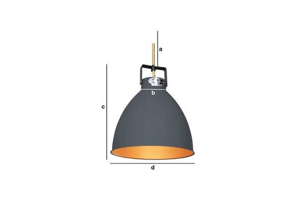 Dimensions du produit Plafonnier Jieldé Augustin 24cm