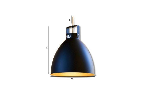 Dimensions du produit Plafonnier Jieldé Augustin 36 cm noir