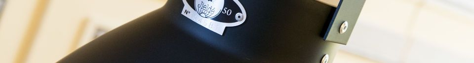 Mise en avant matière Plafonnier Jieldé Augustin 36 cm noir