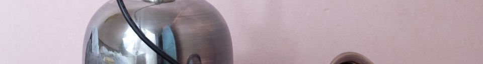 Mise en avant matière Plafonnier Ogive Nickelée