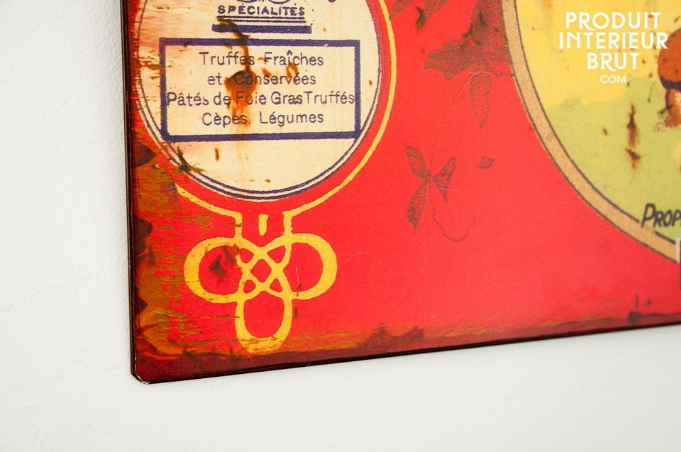 Laissez votre intérieur s?enivrer du parfum des cèpes et des bolets avec cette plaque décorative