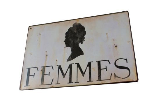 Plaque murale métallique Femmes Détouré
