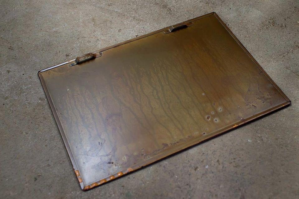 Plaque imprimée et vernie longue de 27 centimètres